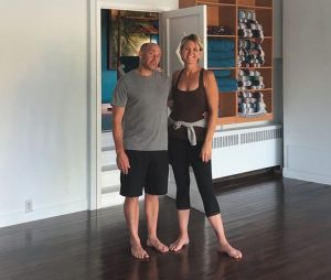 Lisa and Chris Simone, owners of Bridgewater Yoga